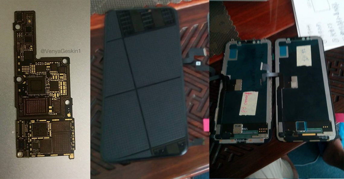 ภาพหลุดชิ้นส่วนหน้าจอและเมนบอร์ดของ iPhone 8