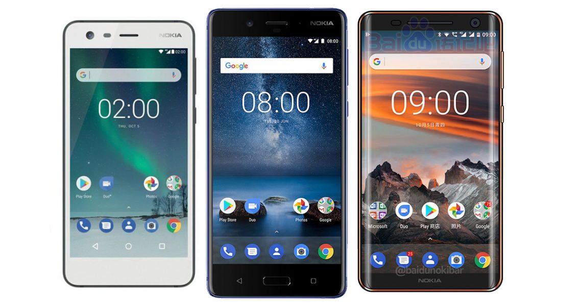 Nokia จะเปิดตัว Nokia 2 , Nokia 7 และ Nokia 9 ในช่วงต้นปี 2018
