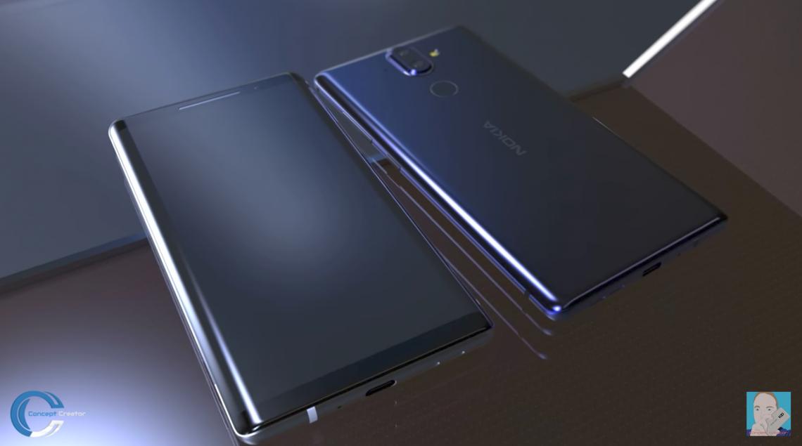 วีดีโอเรนเดอร์ Nokia 9 มาพร้อมกับดีไซน์จอโค้งแบบไร้ปุ่ม Home
