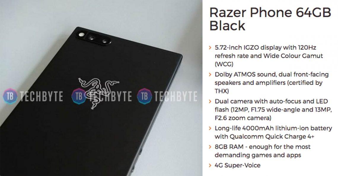 หลุดสเปค Razer Phone มือถือที่เล่นเกมได้ลื่นที่สุดด้วยจอ 120 Hz