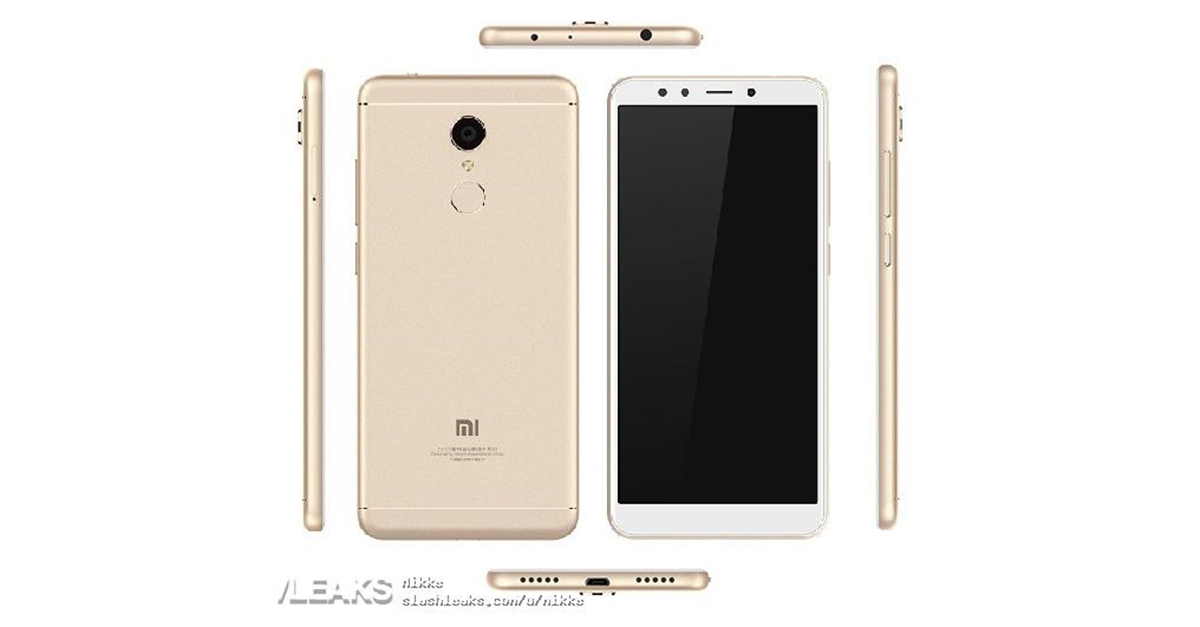 Xiaomi Redmi Note 5 Render