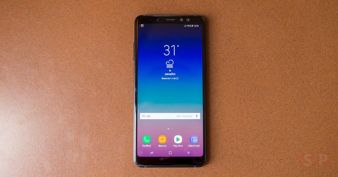 พรีวิว Samsung Galaxy A8+ 2018 รุ่นกลางฟีเจอร์ครบ ๆ กล้องหน้าคู่, กันน้ำ หน้าจอ 18:9