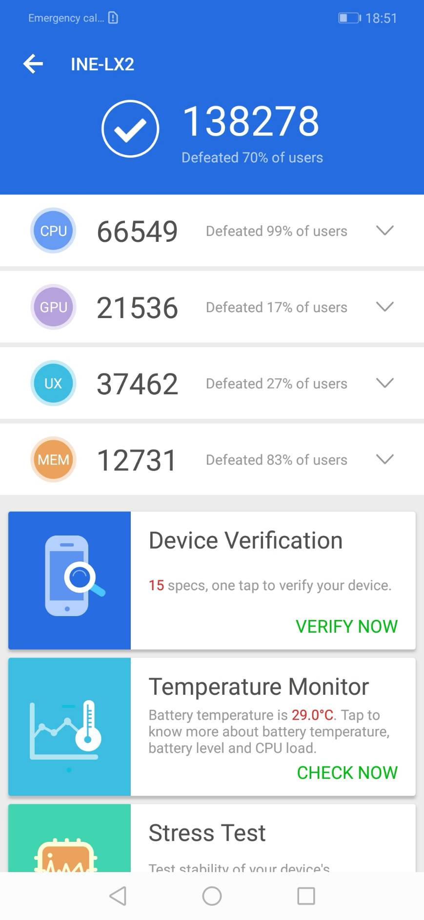 HUAWEI nova 3i Benchmark Test