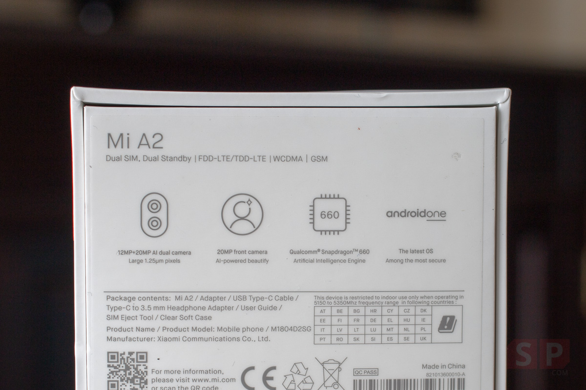 Unbox Xiaomi Mi A2 Android One SpecPhone 002
