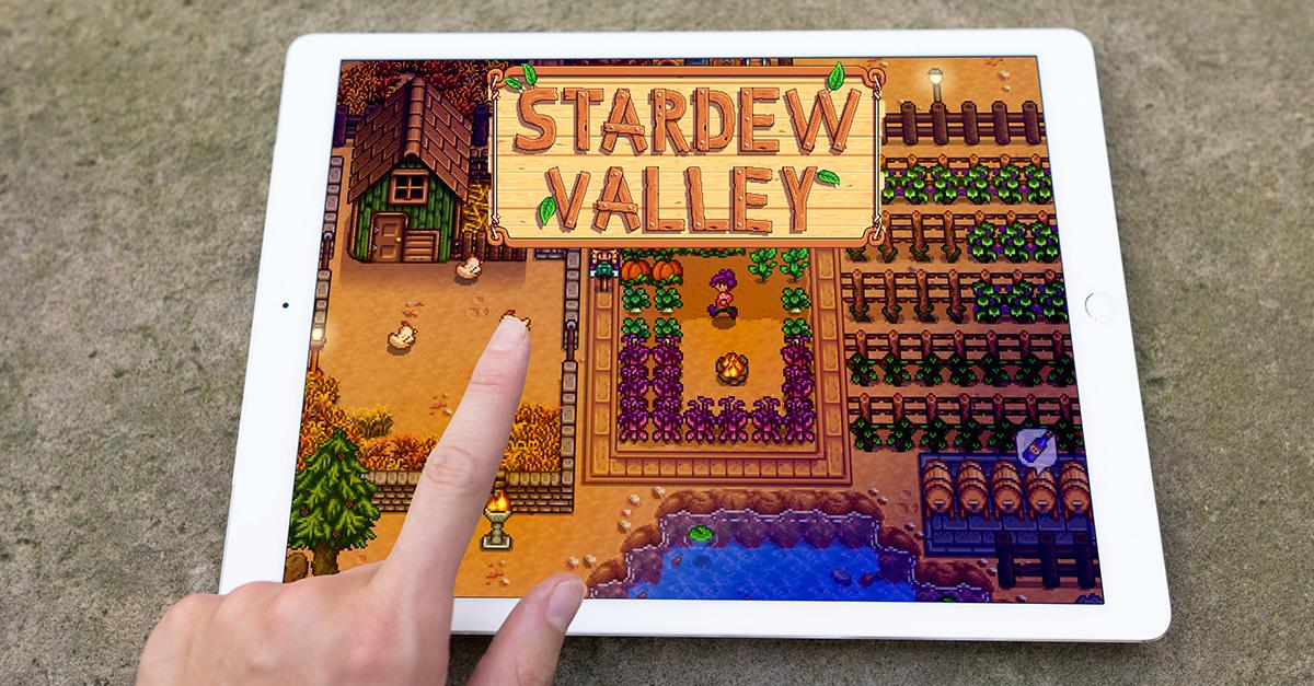 pointing on ipad pro Stardew valley