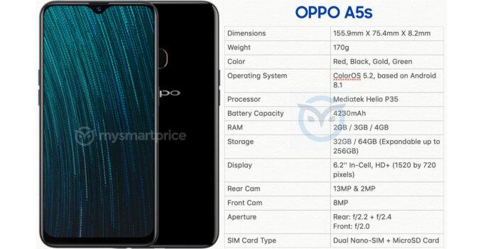 Oppo A5s Specs Leak