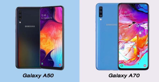 Galaxy A50 vs Galaxy A70