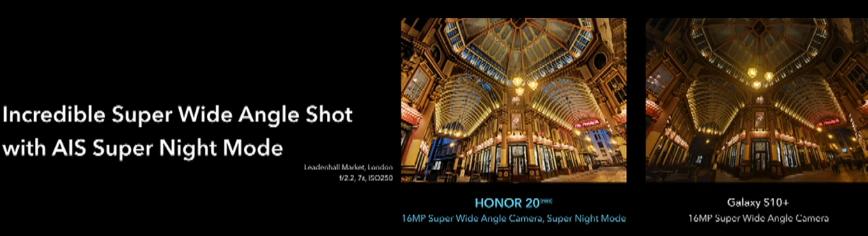 Honor 20 Pro ultra nightmode
