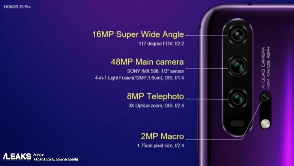honor 20 pro camera specs 945