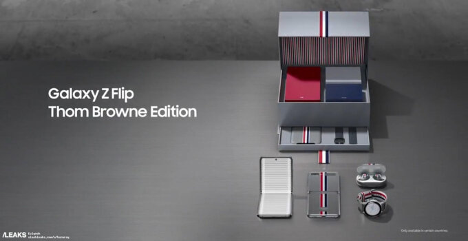 galaxy z flip thom browne edition video leaked 237
