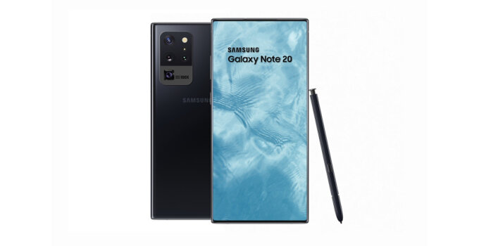 Samsung Galaxy Note 20 concept render