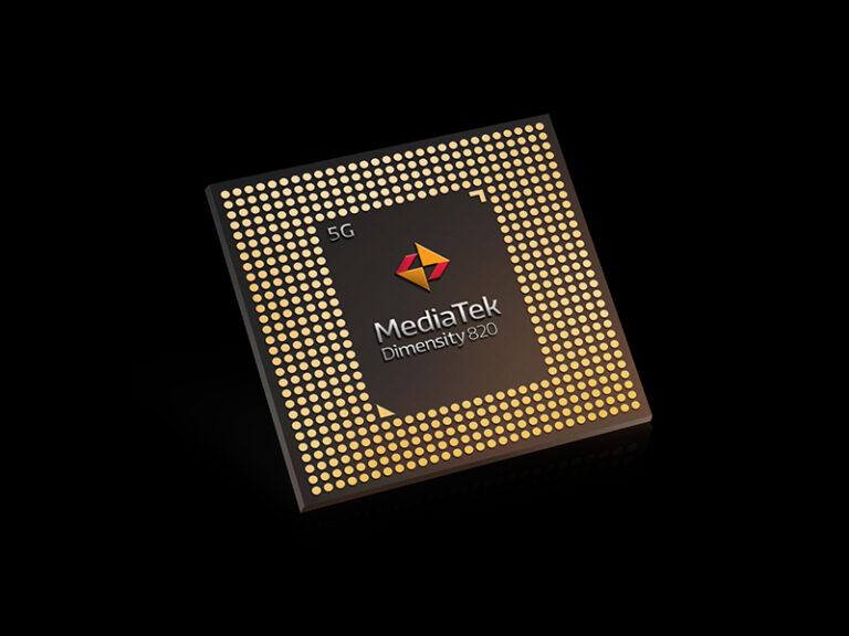 MediaTek Dimensity 820 Chipset Tilted