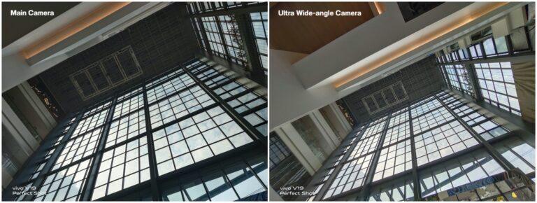 Vivo V19 Main vs Ultra wide Camera Compare