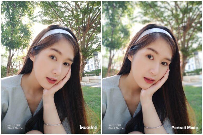 Vivo V19 Selfie Portrait vs normal Camera Compare