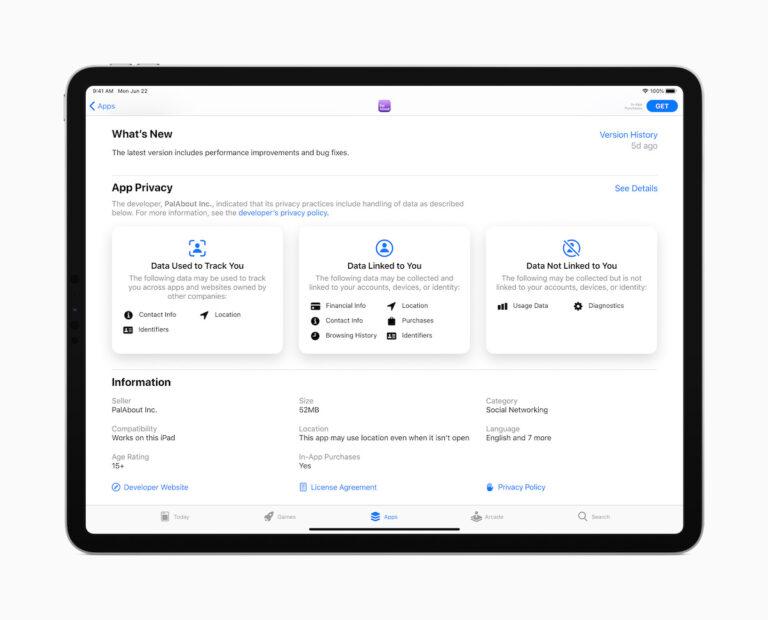 apple ipados14 privacy appstore datatrackng 062220