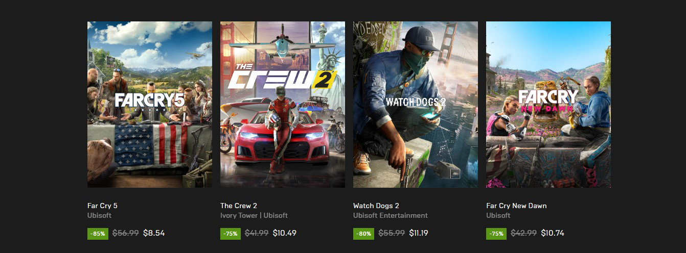 Other game discount from Epic Games