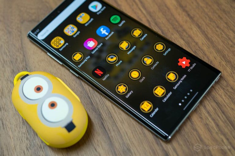 Review Galaxy Buds Smart Cover Minions Edition SpecPhone 0015