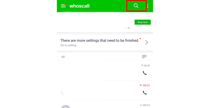 whoscall search