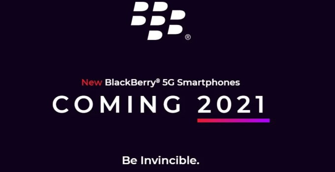 BlackBerry 5G smartphone