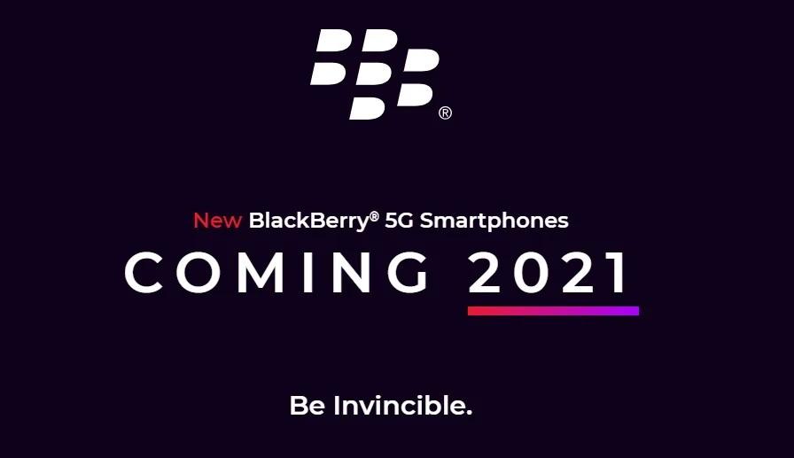 BlackBerry 5G ที่มาพร้อมกับคีย์บอร์ดแยกจะเปิดตัวในปี 2021 นี้