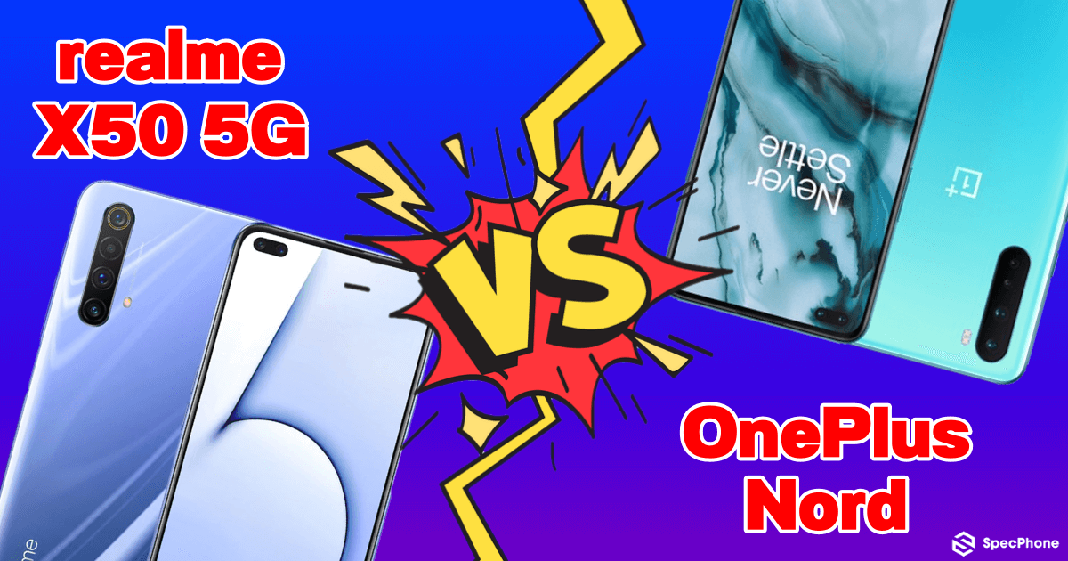 realme X50 5G vs OnePlus Nord Cover