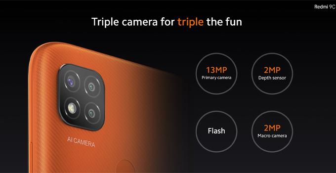 มือถือเล่นเกมราคาถูก redmi 9c camera