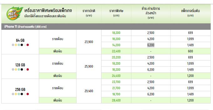 ราคา iPhone 11 AIS