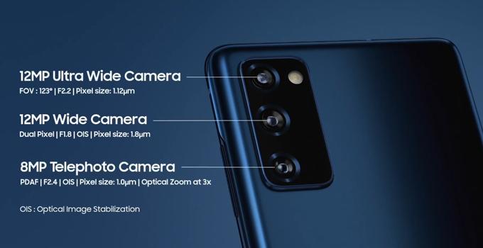 สเปค Samsung Galaxy S20 FE camera back