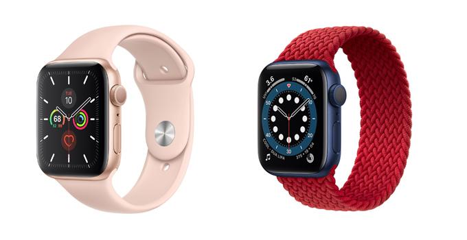 Apple Watch Series 6 vs Series 5 new