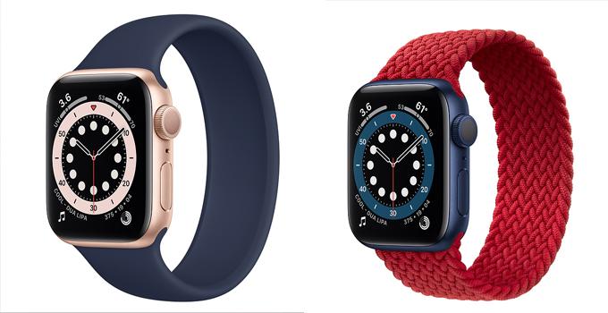 Apple Watch Series 6 vs Series 5 solo loop slip on