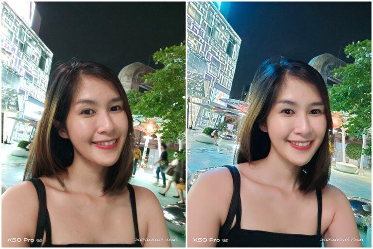 Vivo X50 Pro 5G Front Night Portrait vs Auto 0001
