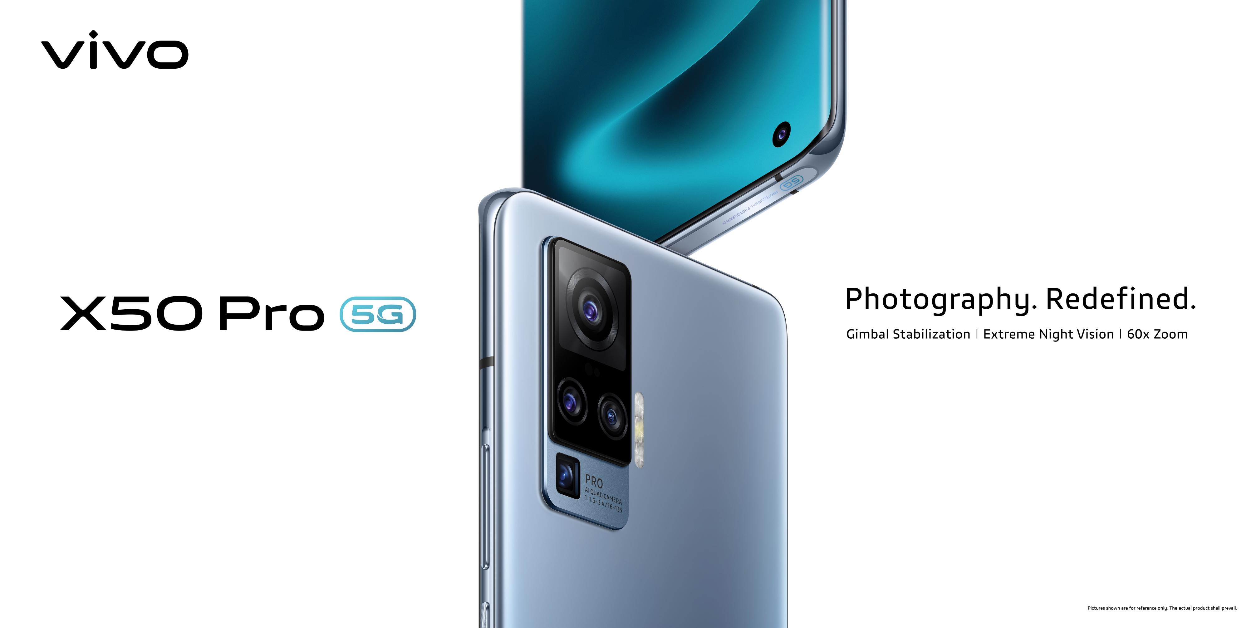 Vivo เปิดตัวสมาร์ตโฟนเรือธง Vivo X50 Pro 5G พร้อมเทคโนโลยี Gimbal ระบบกันสั่นสุดล้ำรุ่นแรกของโลก