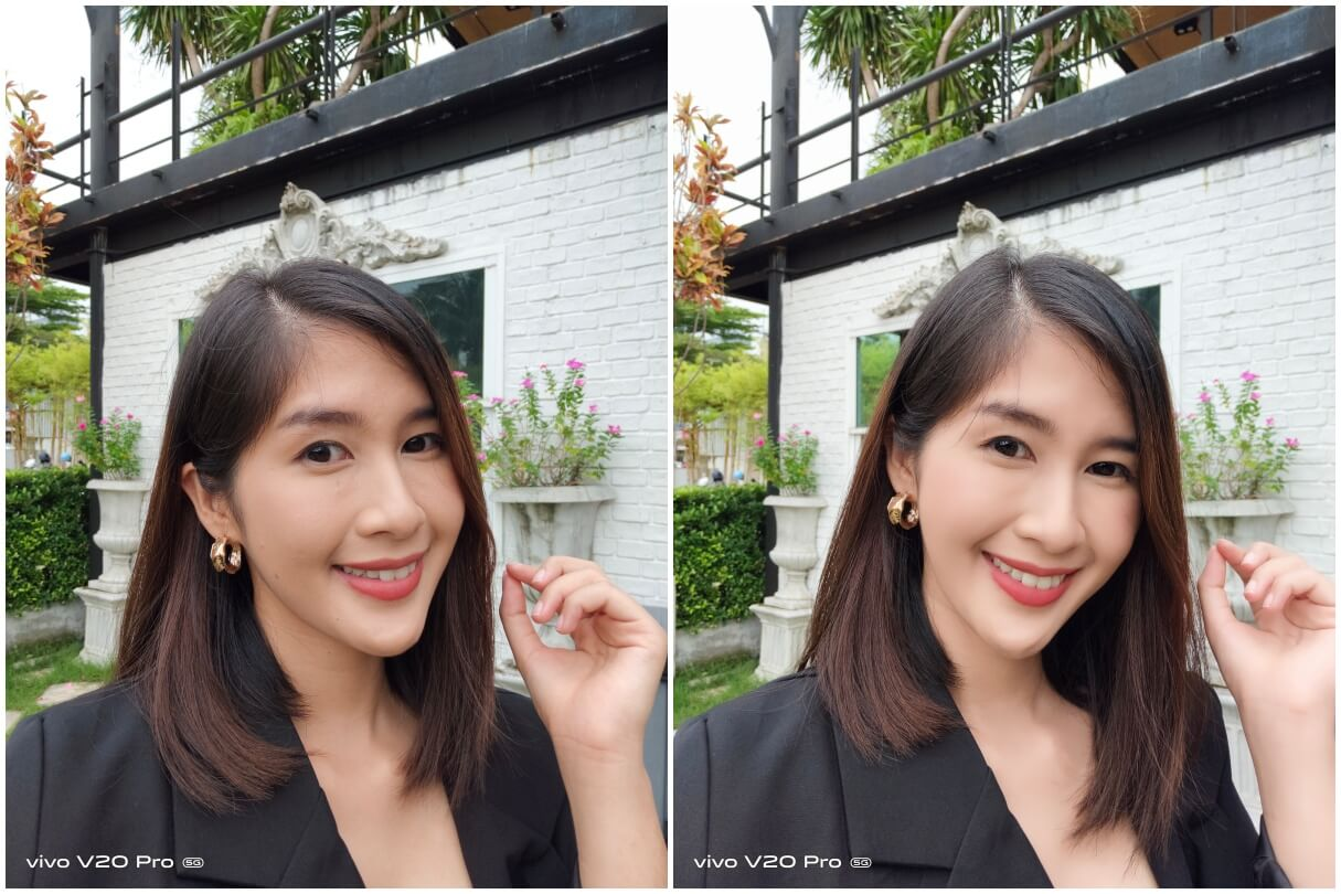 Simple Photo Selfie Normal vs Beauty V20 Pro