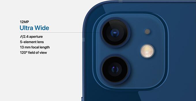 iPhone 12 กล้องอัลตร้าไวลด์