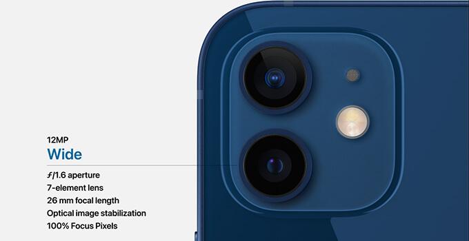 iPhone 12 กล้องไวลด์