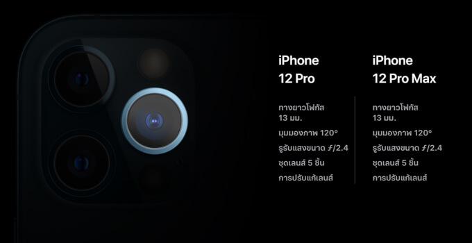 iPhone 12 กล้อง pro promax ultra wild