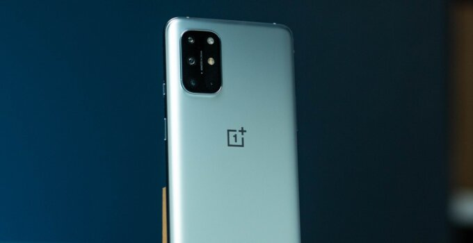 OnePlus 8T rear angled hero shot
