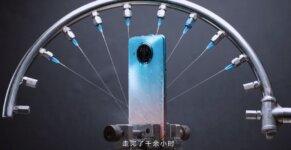 Redmi Note 9 Pro 5G water jet testing