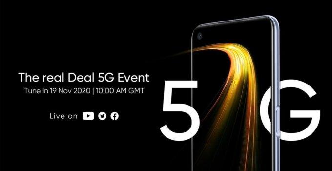 Realme 7 5G เตรียมเปิดตัว 19 พฤศจิกายนนี้