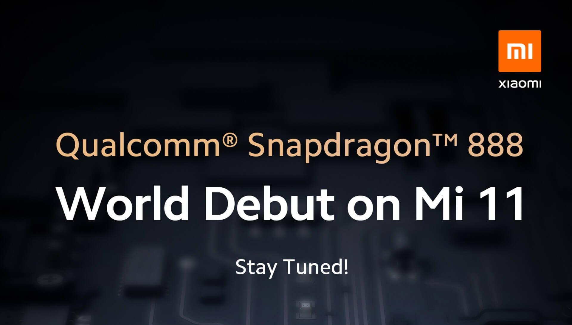 Xiaomi เผยเตรียมเปิดตัว Mi 11 ซีรีส์ที่มาพร้อม Snapdragon 888 มกราคมนี้