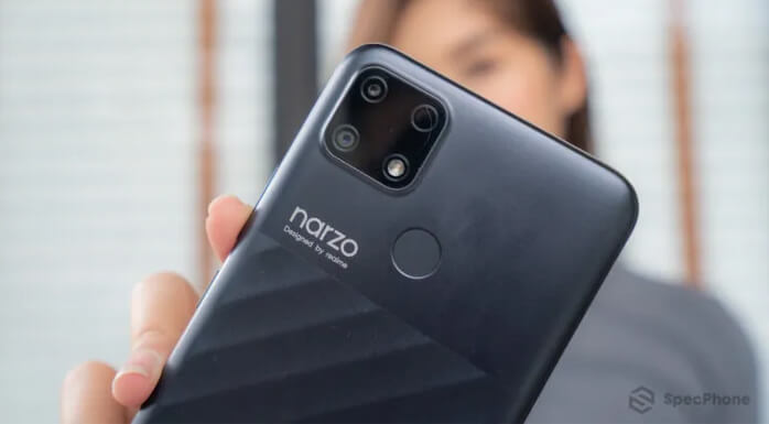 มือถือเล่นเกมราคาถูก realme narzo 30a camera