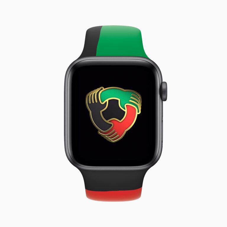 Apple celebrates BlackHistoryMonth apple watch badge award 012621