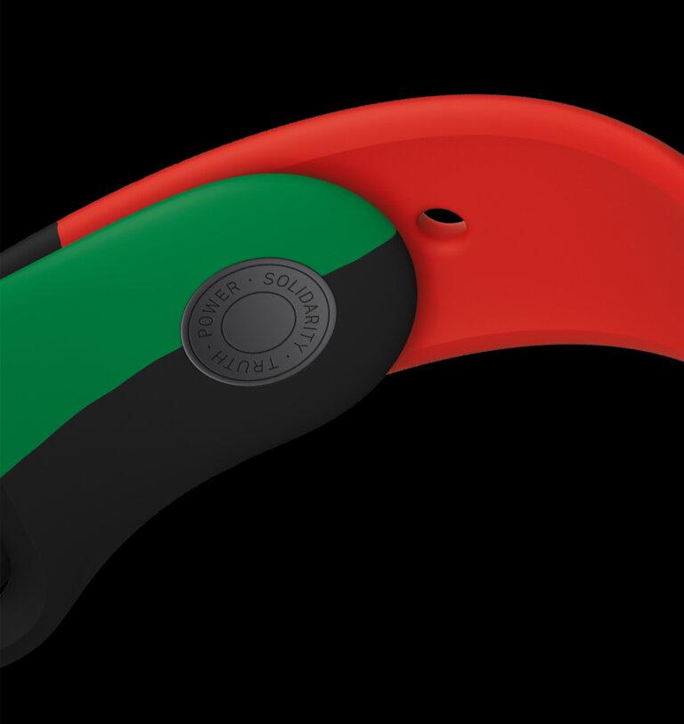 Apple celebrates BlackHistoryMonth apple watch series 6 band pin 012621