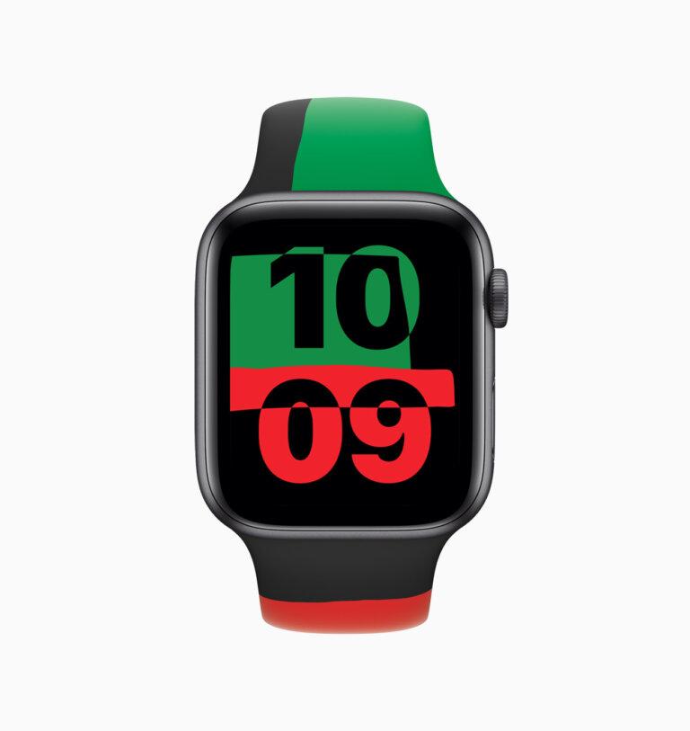 Apple celebrates BlackHistoryMonth apple watch series 6 watchface 012621