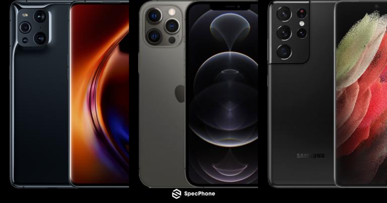 Find X3 Pro vs 12 Pro Max vs S21 Ultra 5G 2 1