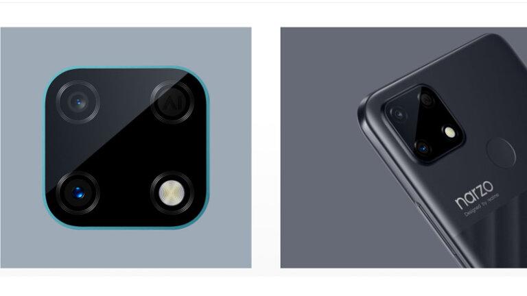 โทรศัพท์ราคาไม่เกิน 5000 ปี 2021 realme narzo 30a camera