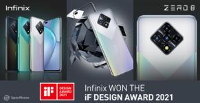 infinix get reward from if design award 2021