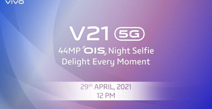 vivo V21 5G กับภาพดีไซน์ตัวเครื่องก่อนเปิดตัวอย่างเป็นทางการ 29 เมษายนนี้