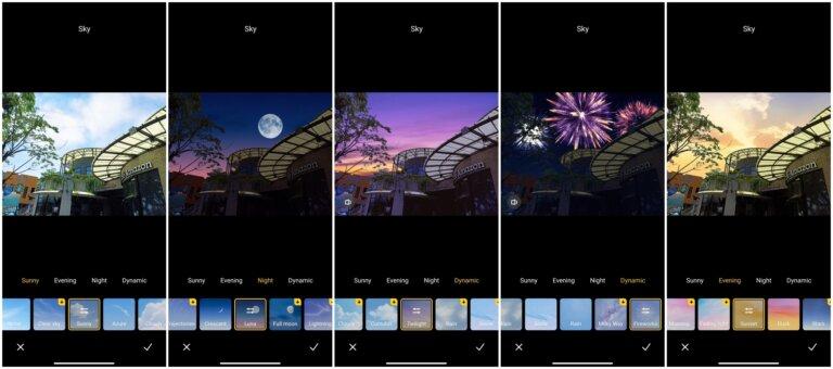 Screenshot Redmi Note 10S Sky Change Feature