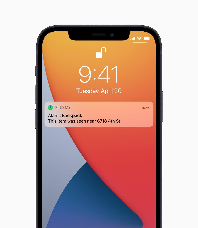 Apple iphone12 findmy 042021